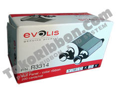 ribbon Evolis Pebble4 YMCKOK