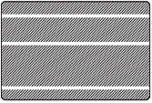Hasil cetak bergaris zebra p110i