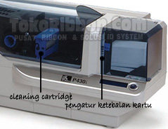 out of cards, out of ribbon, printhead open, mechanical error, encoding error, kerusakan zebra p430i