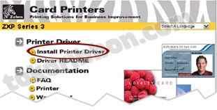 Cara instalasi driver printer Zebra ZXP3