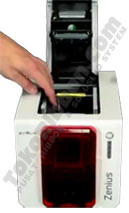 223 ribbon error printer Evolis Zenius
