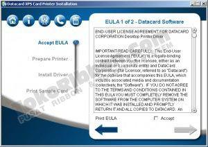 cara instal driver Datacard SD360