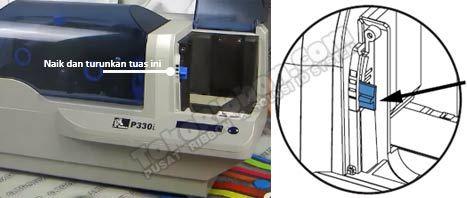 Mengatur ketebalan kartu di printer Zebra P330i