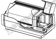 cara memasang kartu pvc di printer zebra p330i