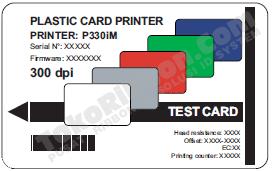 test print kartu-zebrap330i