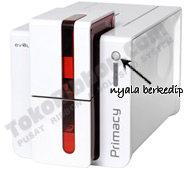 Lampu kontrol  panel printer Evolis Primacy berkedip