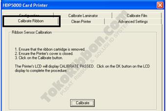 Cara kalibrasi sensor ribbon Fargo HDP5000