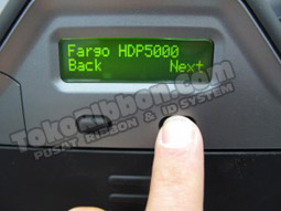 Tekan tombol NEXT - cara tahu versi firmware Fargo HDP5000