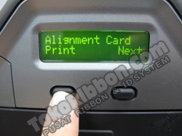 pilih PRINT atau NEXT  - self test Fargo HDP5000