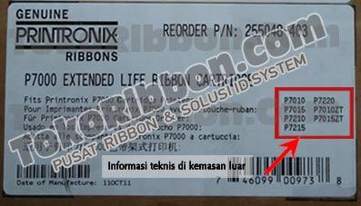 Ribbon Printronix P7010, P7015, P7210, P7215, P7220, P7010ZT dan P7015ZT.