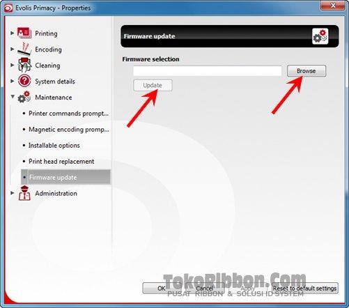 Cara update firmware Evolis Primacy